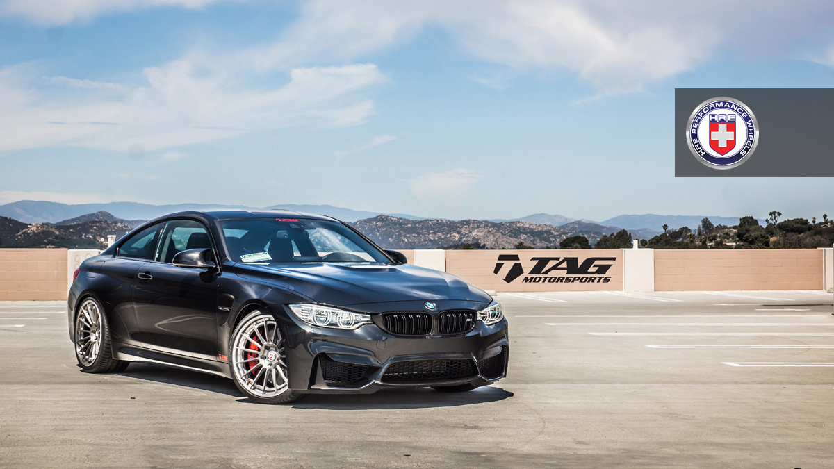 BMW M4 with HRE RS103 in Brushed Titanium by TAG Motorsports 1