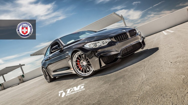 BMW M4 with HRE RS103 in Brushed Titanium by TAG Motorsports 3 750x421
