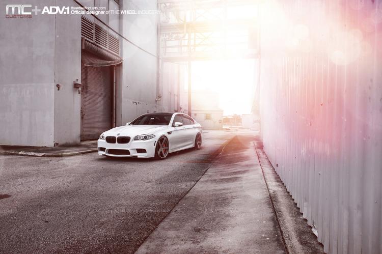 BMW M5 F10 On ADV5 MV.2 Wheels