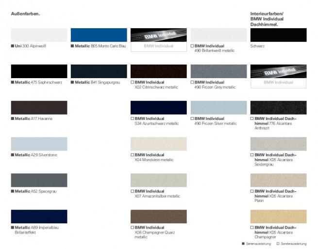 BMW M5 F10 Aussenfarben 655x513