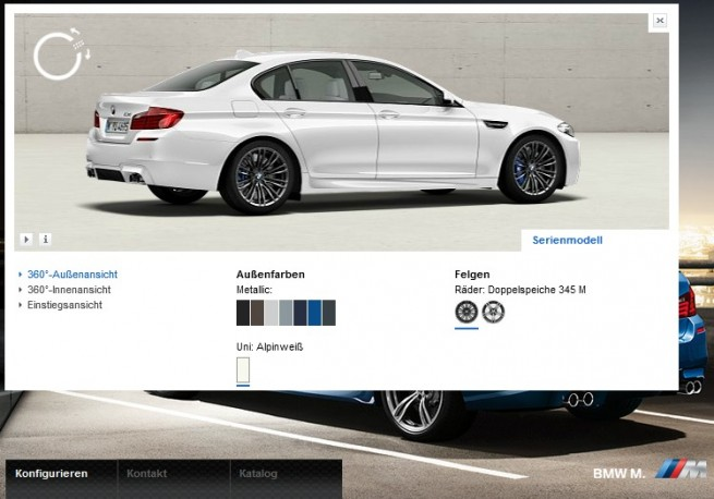 BMW M5 F10 Visualizer Alpinweiss 655x458
