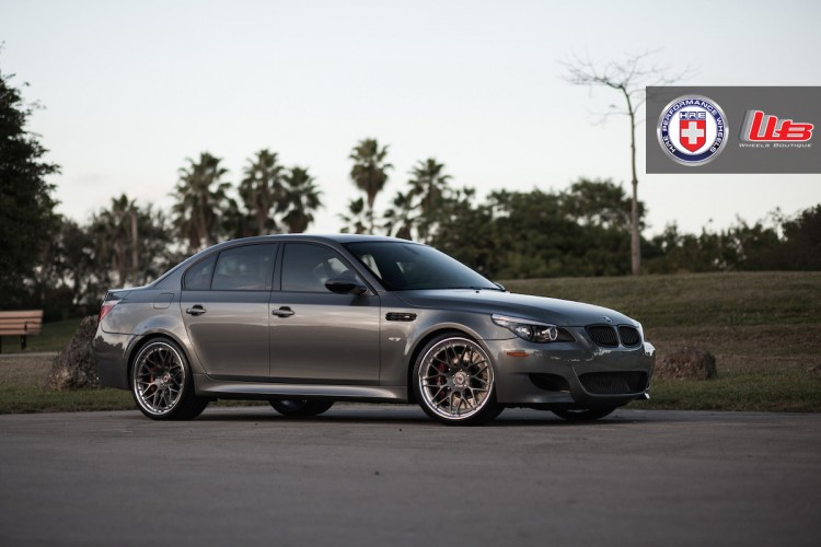 BMW M5 with HRE RS100 in Brushed Dark Clear by Wheels Boutique 1 750x500