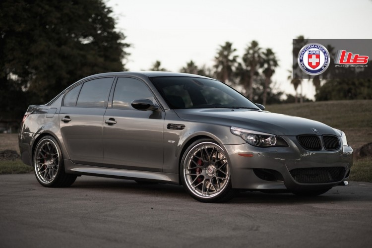 BMW M5 with HRE RS100 in Brushed Dark Clear by Wheels Boutique 2 750x500