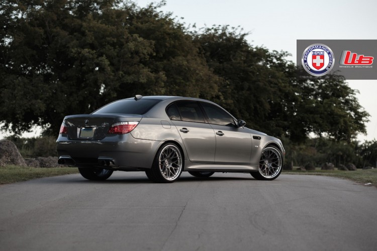 BMW M5 with HRE RS100 in Brushed Dark Clear by Wheels Boutique