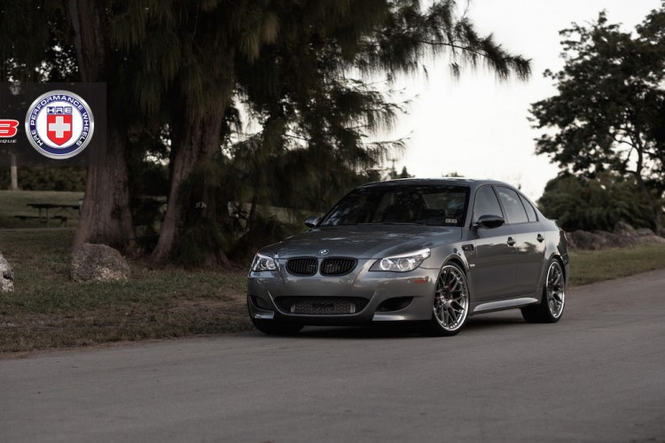BMW M5 with HRE RS100 in Brushed Dark Clear by Wheels Boutique 7 750x500
