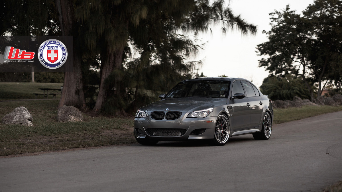 BMW M5 with HRE RS100 in Brushed Dark Clear by Wheels Boutique 7