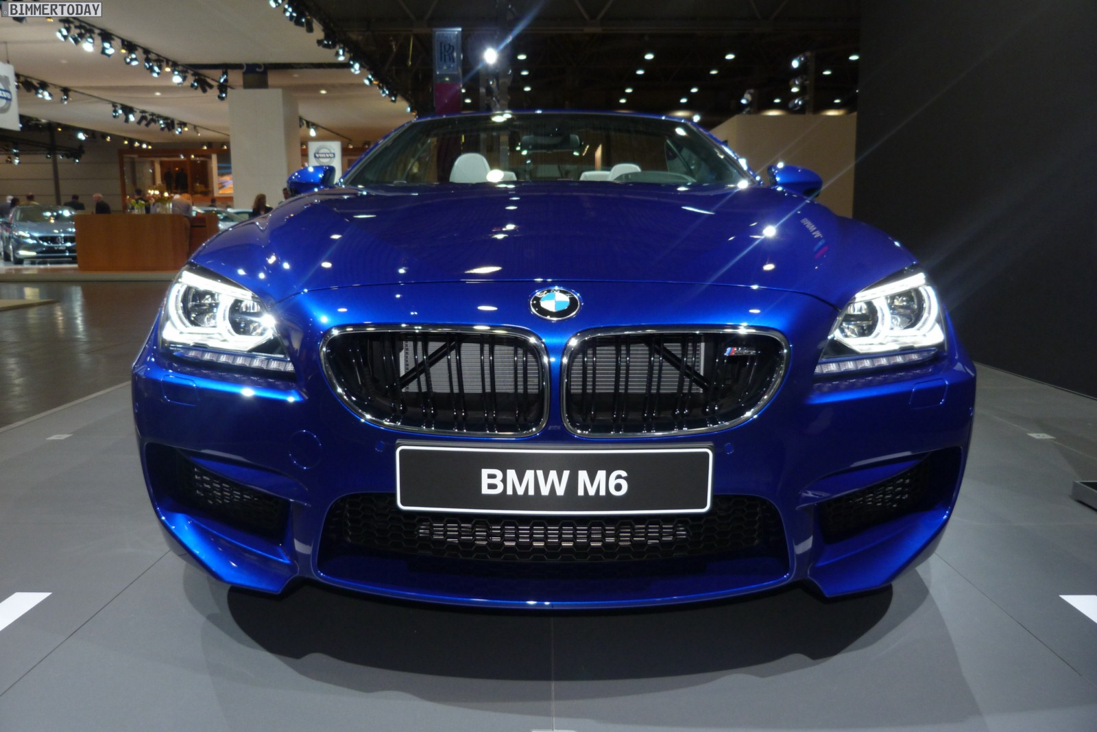 2012 Leipzig Auto Show Bmw M6 Convertible In San Marino Blue