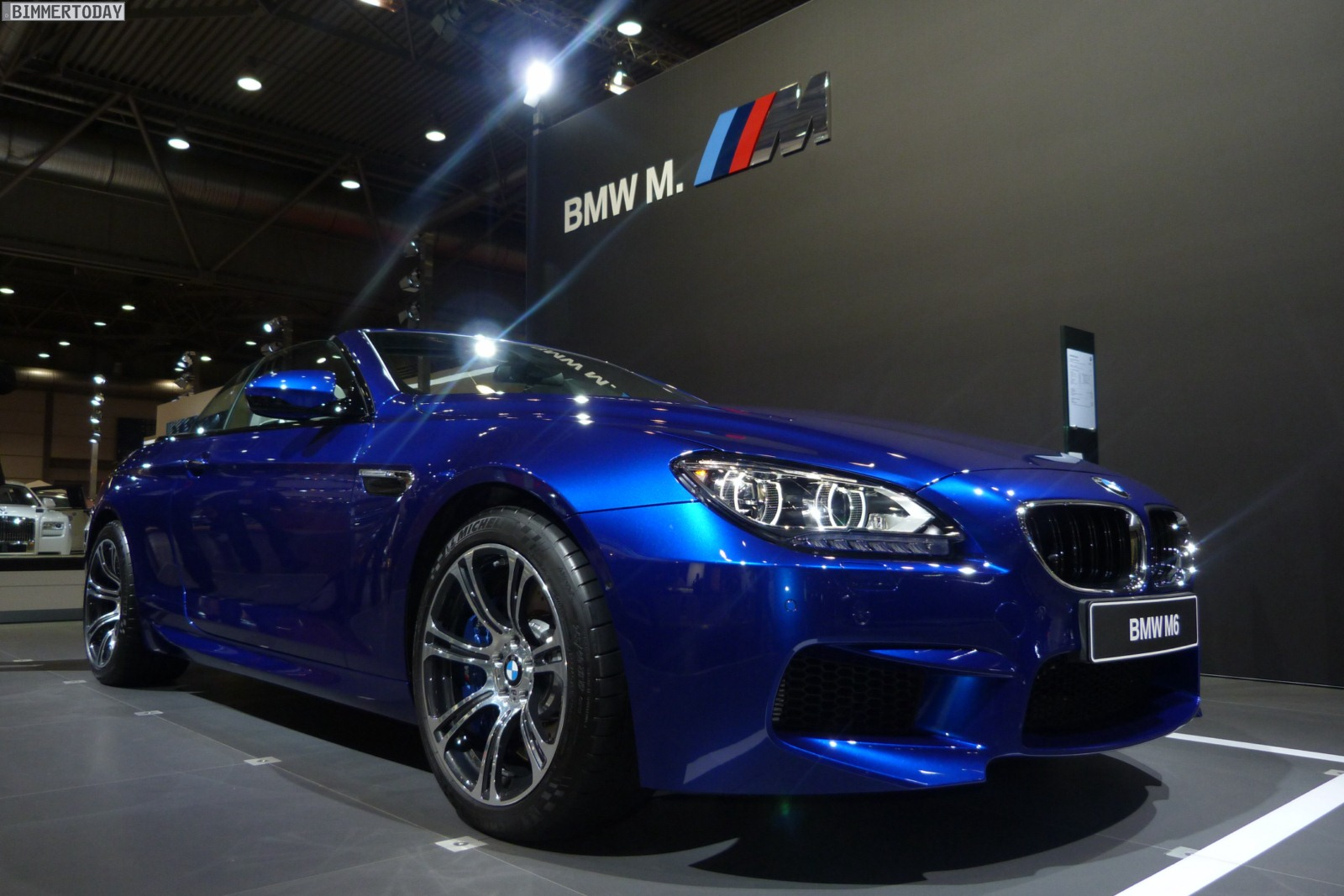 2012 Leipzig Auto Show Bmw M6 Convertible In San Marino Blue