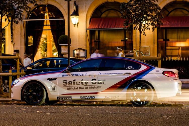 BMW M6 Gran Coupe Safety Car 2013 Paris at Night 02 750x500