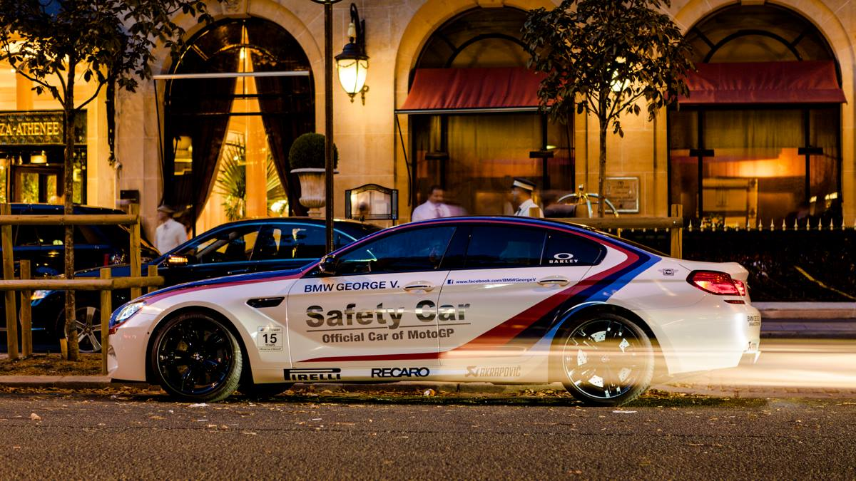 BMW M6 Gran Coupe Safety Car 2013 Paris at Night 02