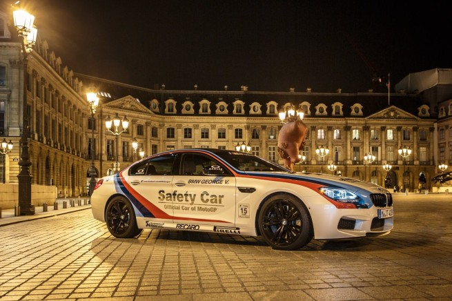 BMW M6 Gran Coupe Safety Car 2013 Paris at Night 10 655x436