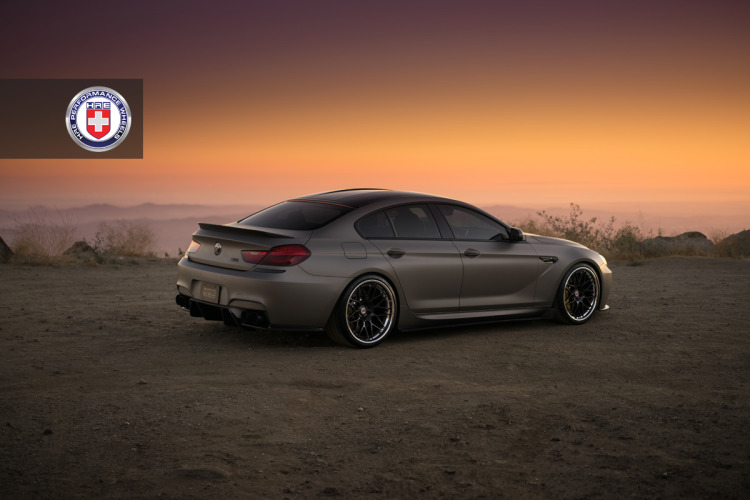 BMW M6 Gran Coupe with HRE RS100 Wheels in Brushed Smoke
