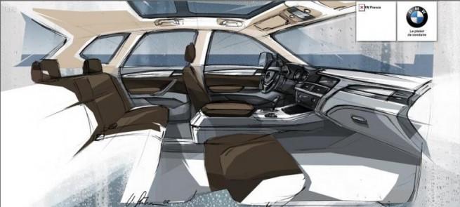BMW X3 F25 Interieur Zeichnung 655x295