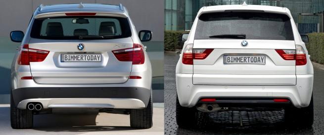 BMW-X3-F25-vs-X3-E83-Heck
