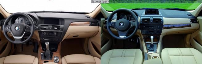 BMW-X3-F25-vs-X3-E83-Interieur