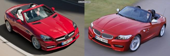 BMW Z4 E89 Mercedes SLK R172 Front oben 655x215