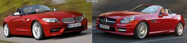 BMW Z4 E89 Mercedes SLK R172 Front schraeg 655x152