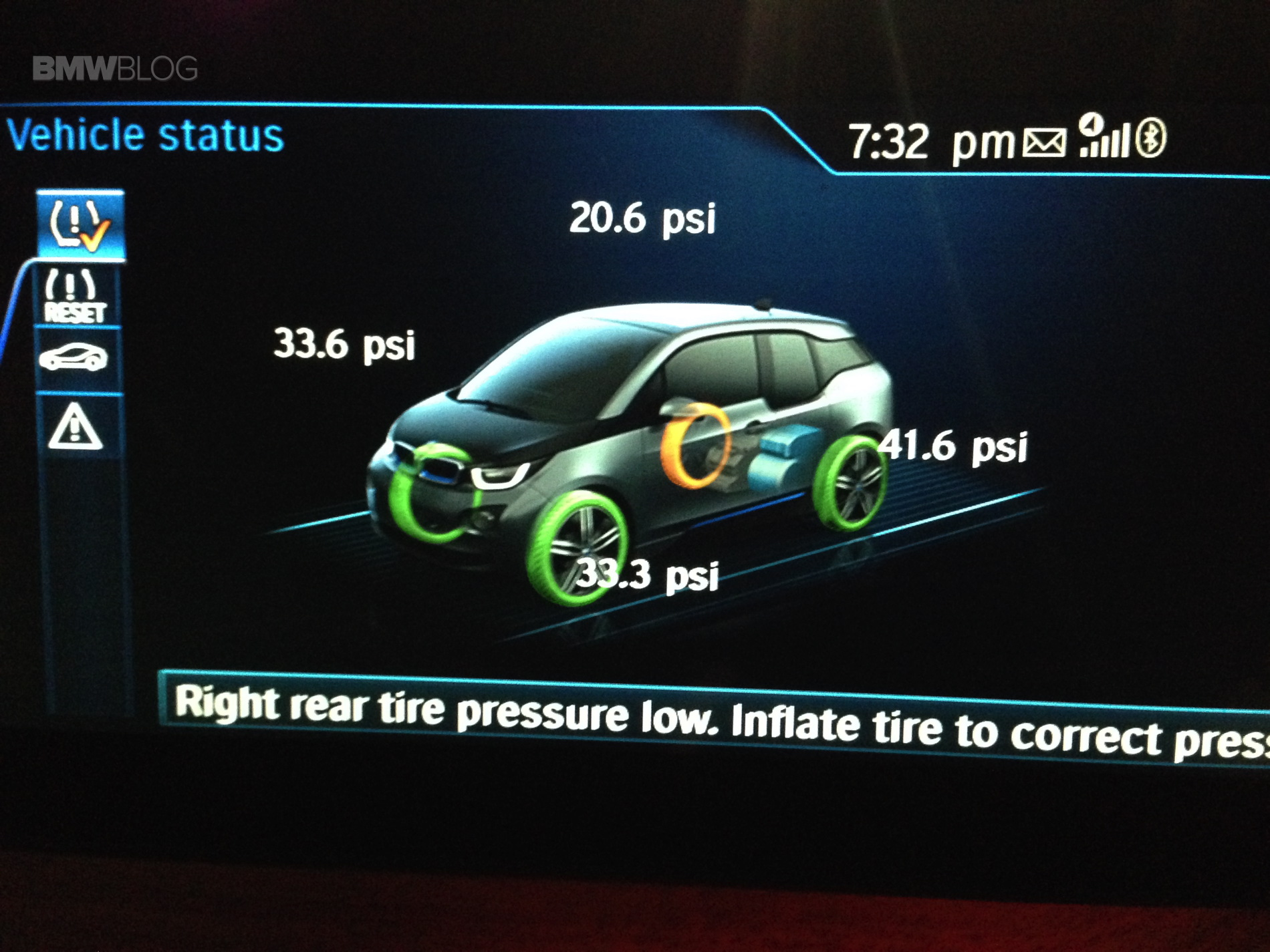 flat tire  bmw  tpms   rescue