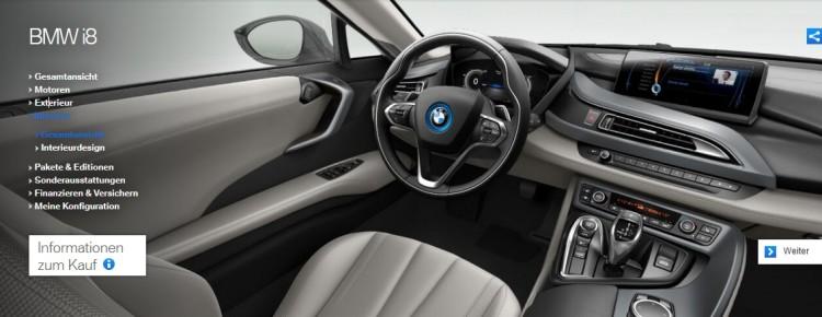 BMW i8 Konfigurator Preise Sonderausstattungen Optionen 03 750x290