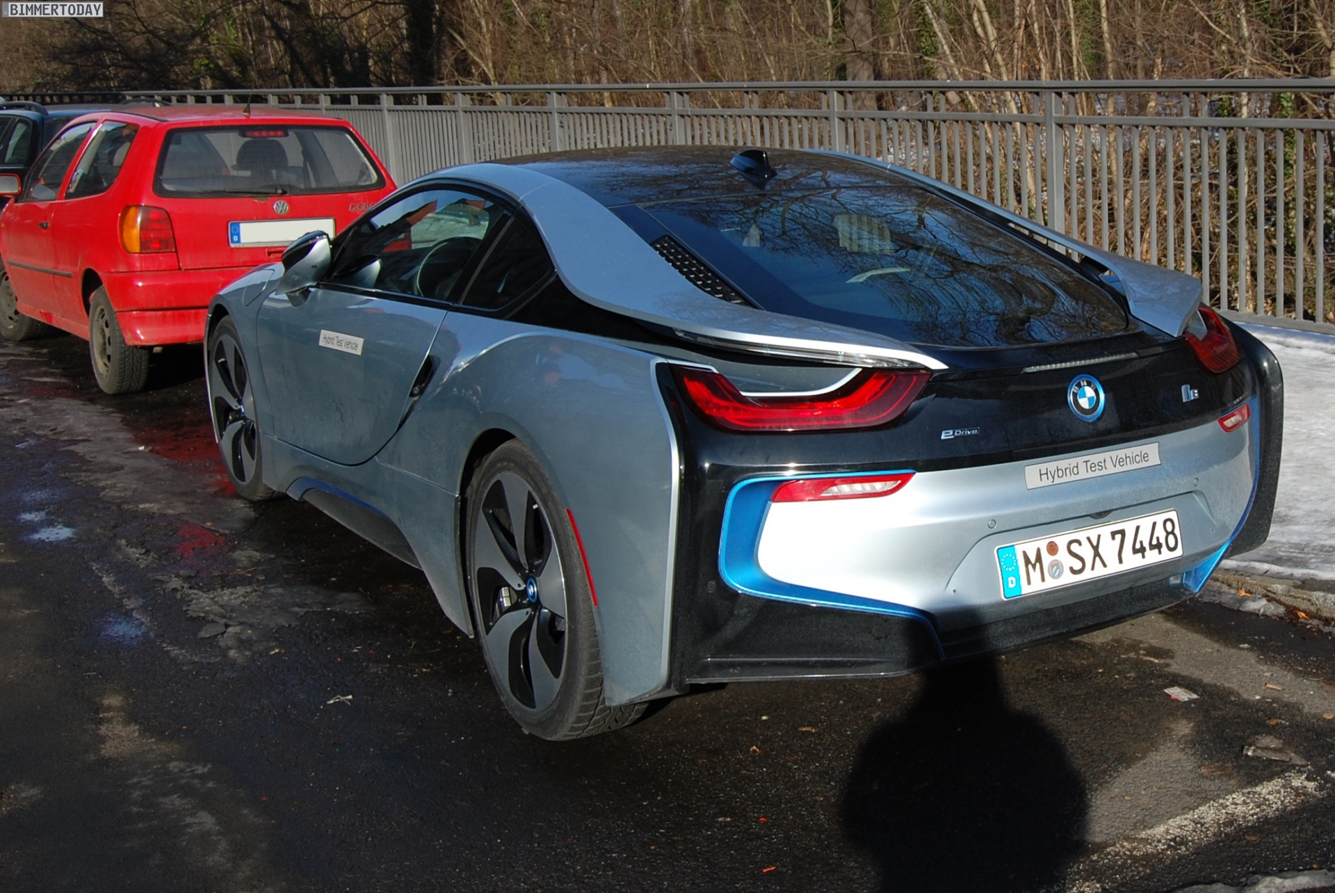 Bmw I8 In Ionic Silver Spotted