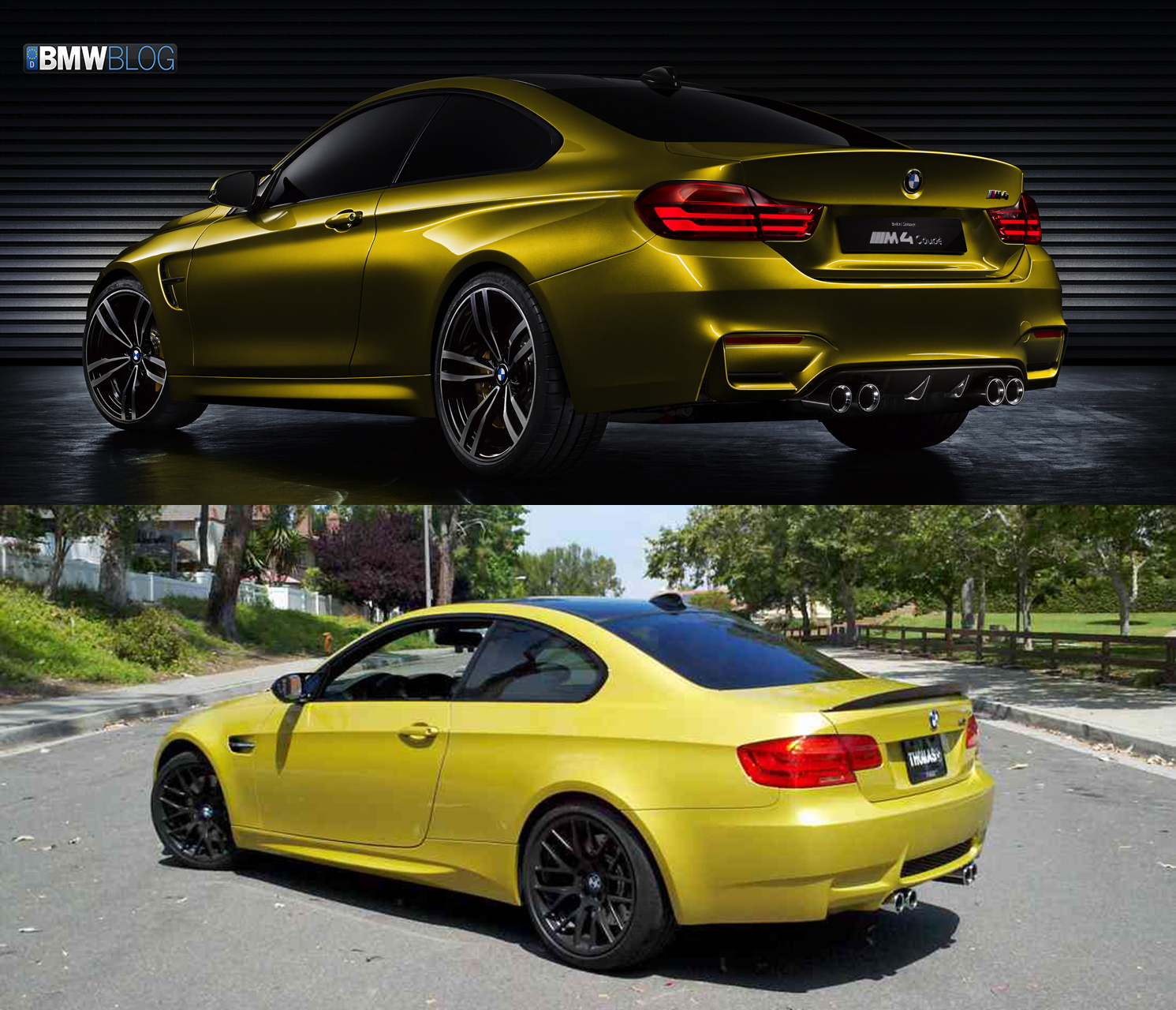 Bmw M3: Photo Comparison: BMW M4 Coupe Vs BMW M3 Coupe E92