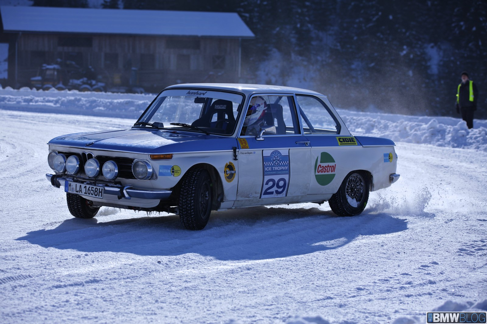 Bmw Races 2002 Ti Works Rally Car On Snow And Ice