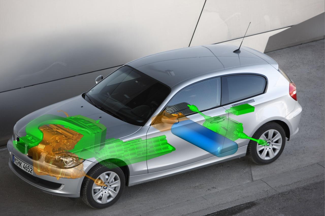 BMW 1series waterstof hybrid1
