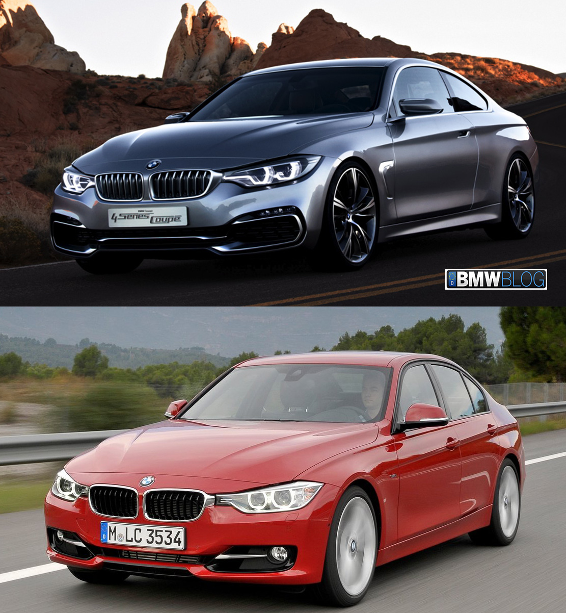 Visual Comparison: F32 BMW 4 Series vs. F30 3 Series Sedan