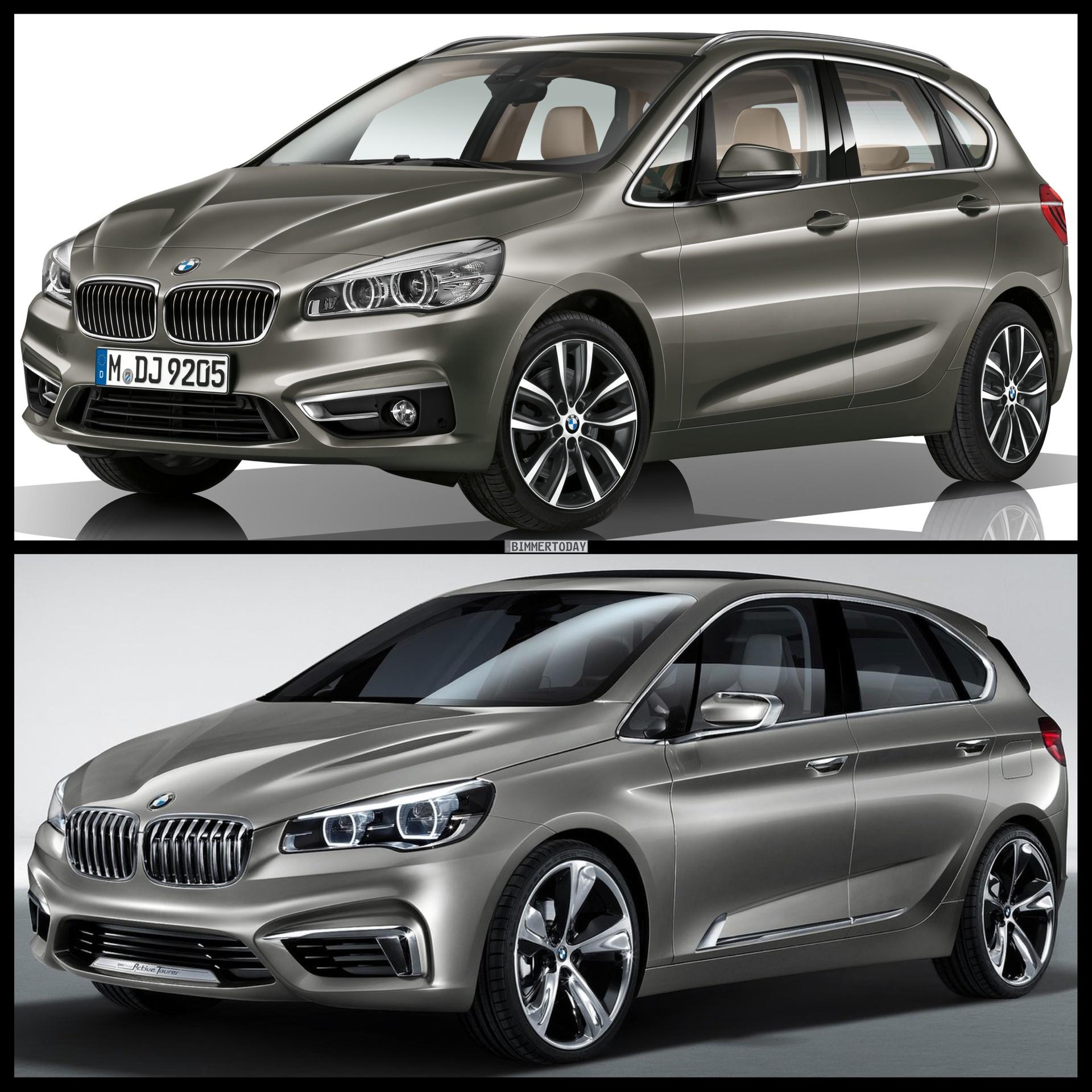 Photo Comparison: BMW 2 Series Active Tourer Vs BMW
