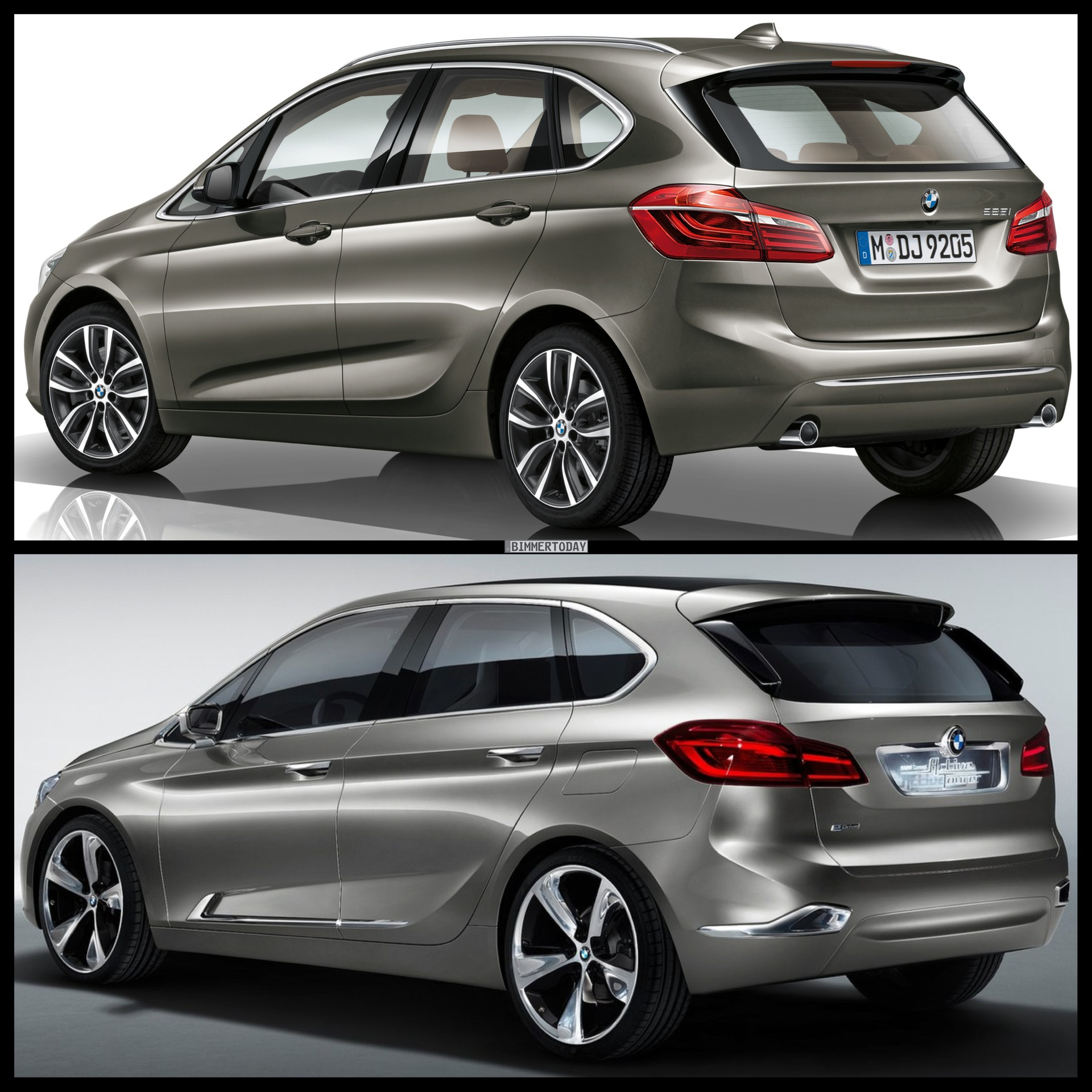 photo comparison bmw 2 series active tourer vs bmw concept active tourer. Black Bedroom Furniture Sets. Home Design Ideas