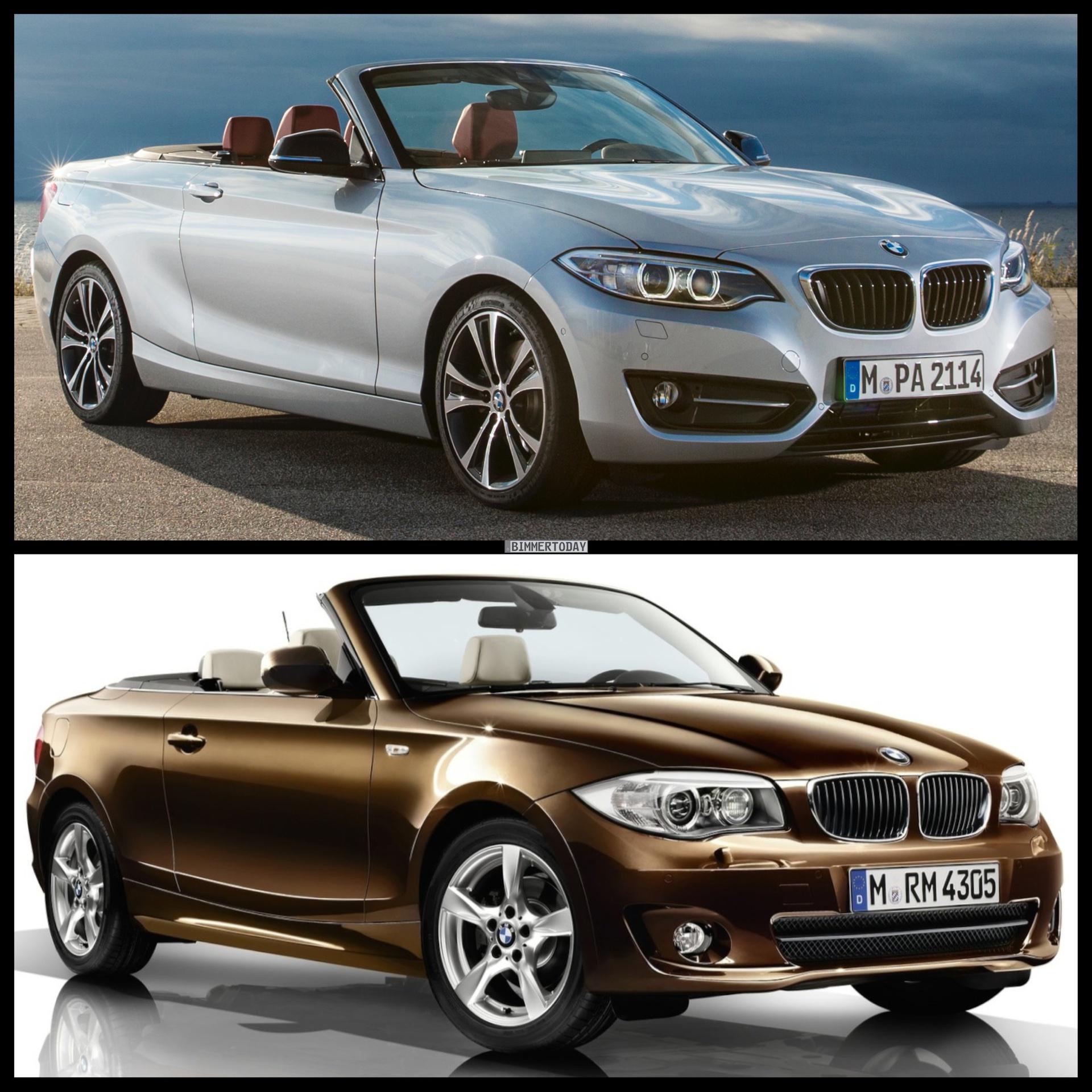 Bild Vergleich BMW 2er F23 1er E88 Cabrio 2014 01