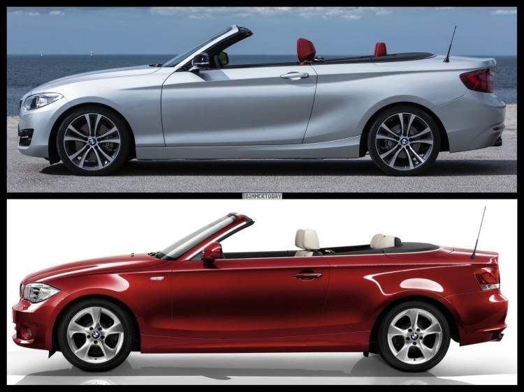 Bild Vergleich BMW 2er F23 1er E88 Cabrio 2014 04 750x562