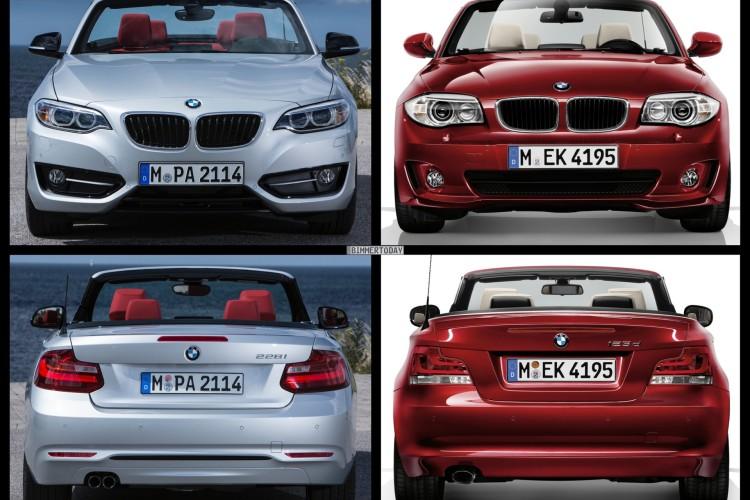 Bild Vergleich BMW 2er F23 1er E88 Cabrio 2014 05 750x500