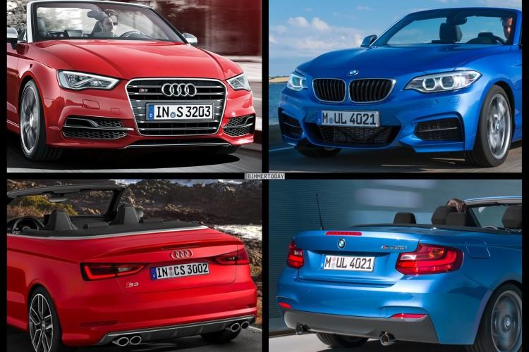 Bild Vergleich BMW 2er F23 M235i Audi S3 Cabrio 2014 01 750x500