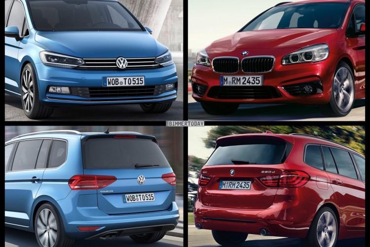 Bild Vergleich BMW 2er Gran Tourer F46 VW Touran 2015 01 750x500