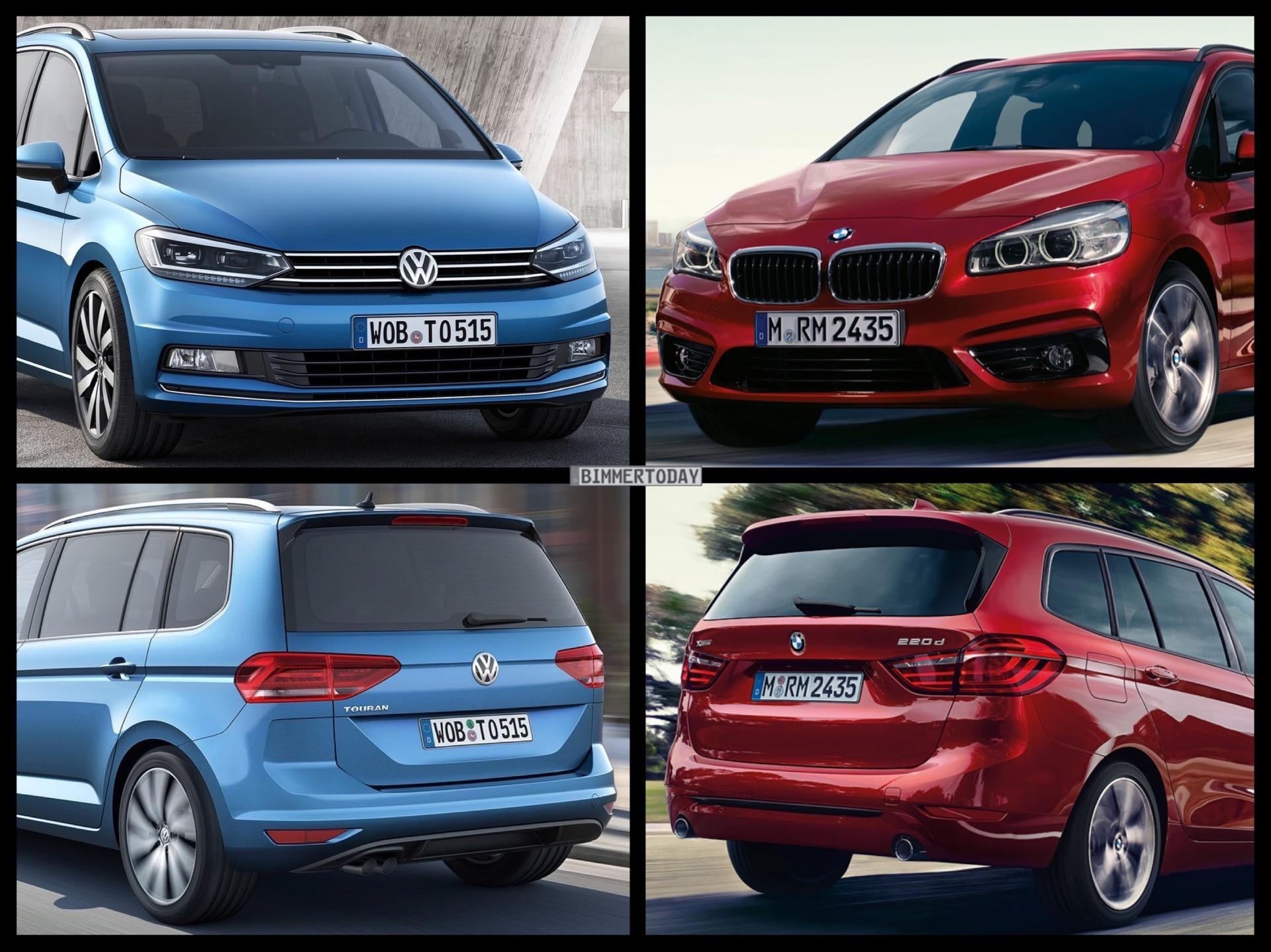 Photo Comparison: Volkswagen Touran vs. BMW 2 Series Gran Tourer