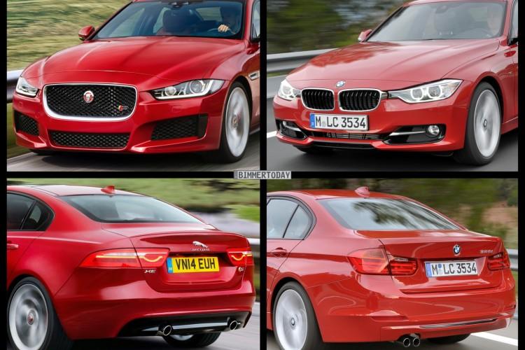 Bild Vergleich BMW 3er F30 Jaguar XE S 2014 01 750x500