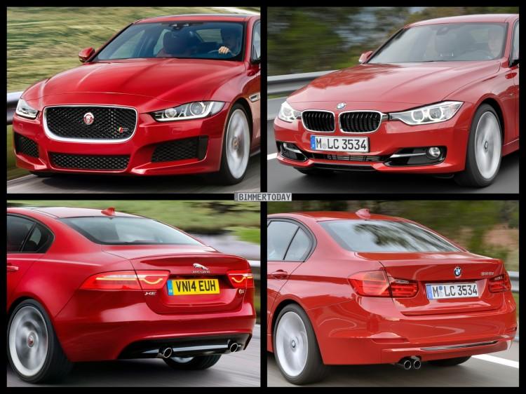 Bild Vergleich BMW 3er F30 Jaguar XE S 2014 01 750x562