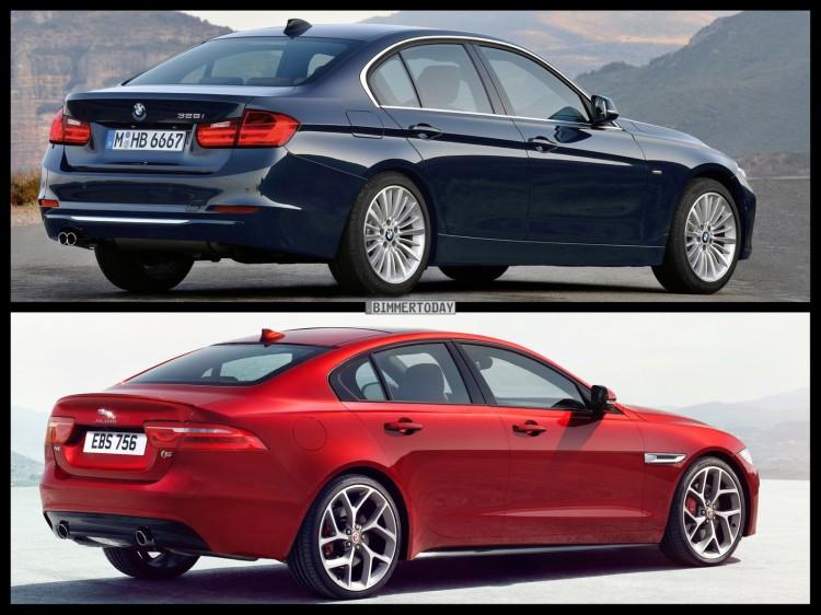 Bild Vergleich BMW 3er F30 Jaguar XE S 2014 03 750x562