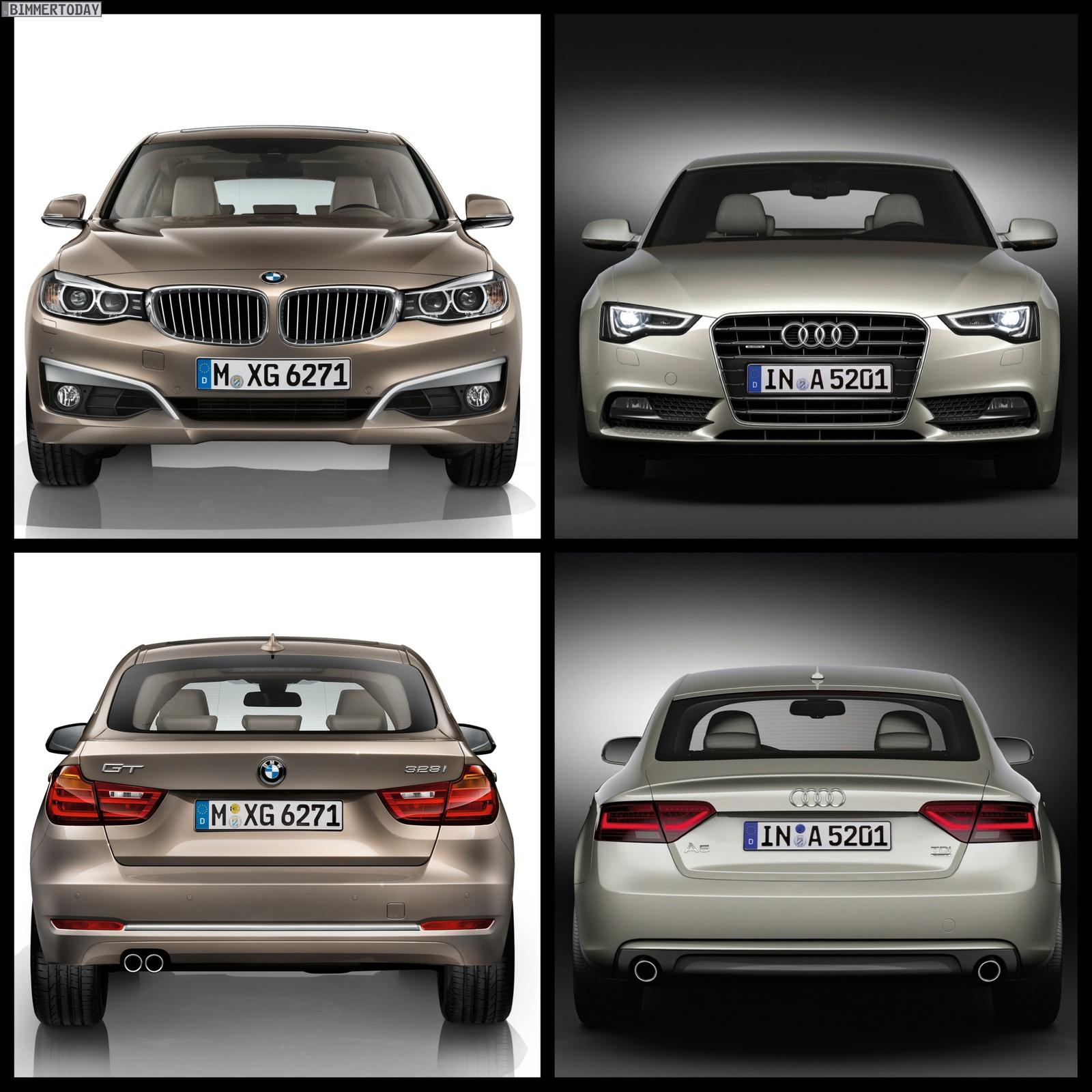 Bmw Xdrive Vs Audi Quattro: Photo Comparison: BMW 3 Series GT Vs Audi A5 Sportback