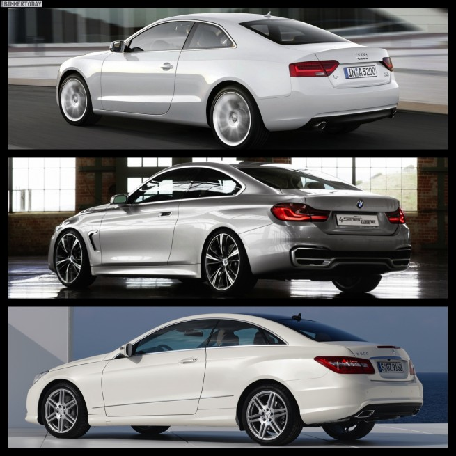 Bild Vergleich BMW 4er Audi A5 Mercedes E Coupe 05 655x655