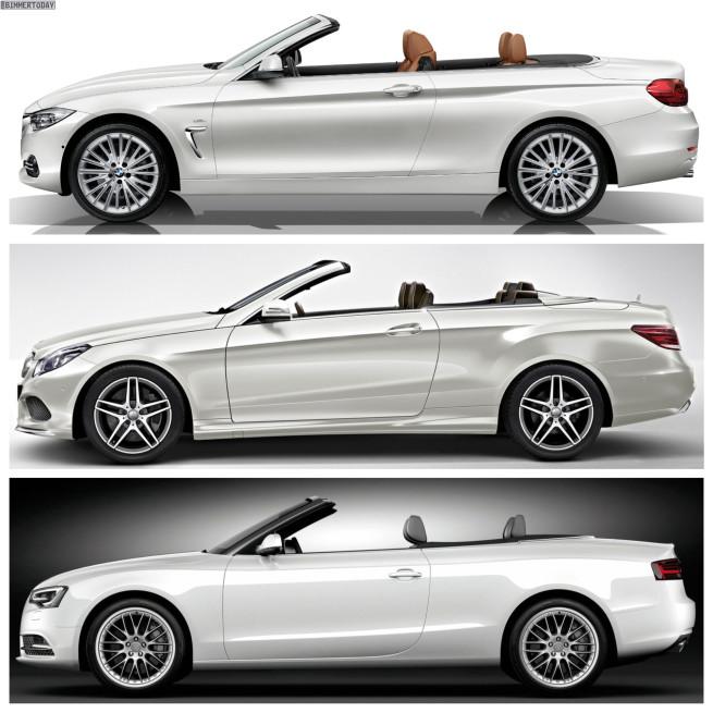 Bild Vergleich BMW 4er Cabrio F33 Mercedes E Klasse Audi A5 03 655x655