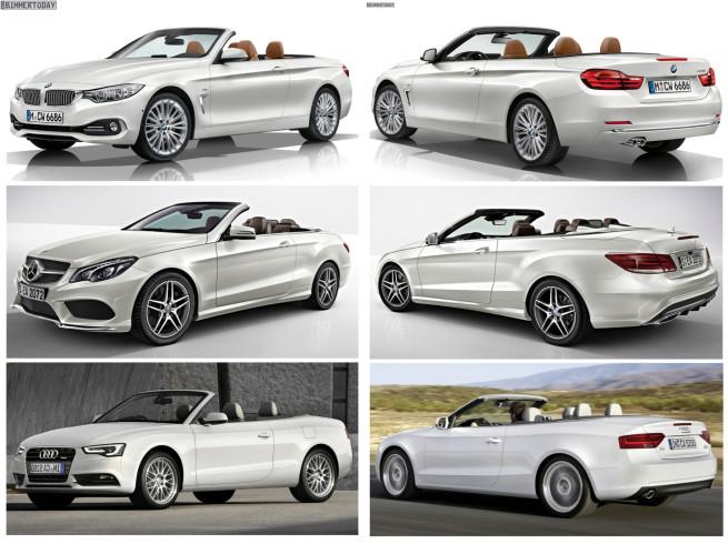 Bild Vergleich BMW 4er Cabrio F33 Mercedes E Klasse Audi A5 07 1 655x490