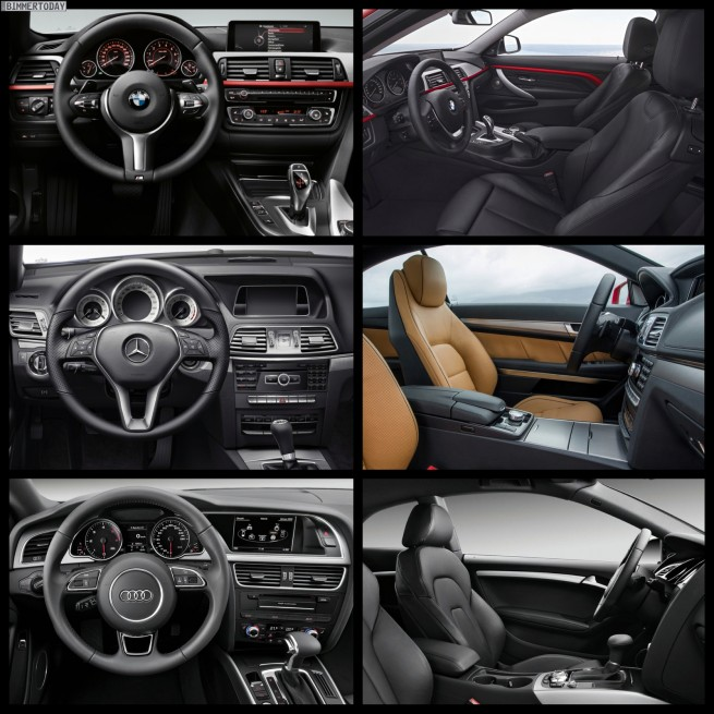 Bild Vergleich BMW 4er Coupe F32 Mercedes E Klasse Audi A5 06 655x655