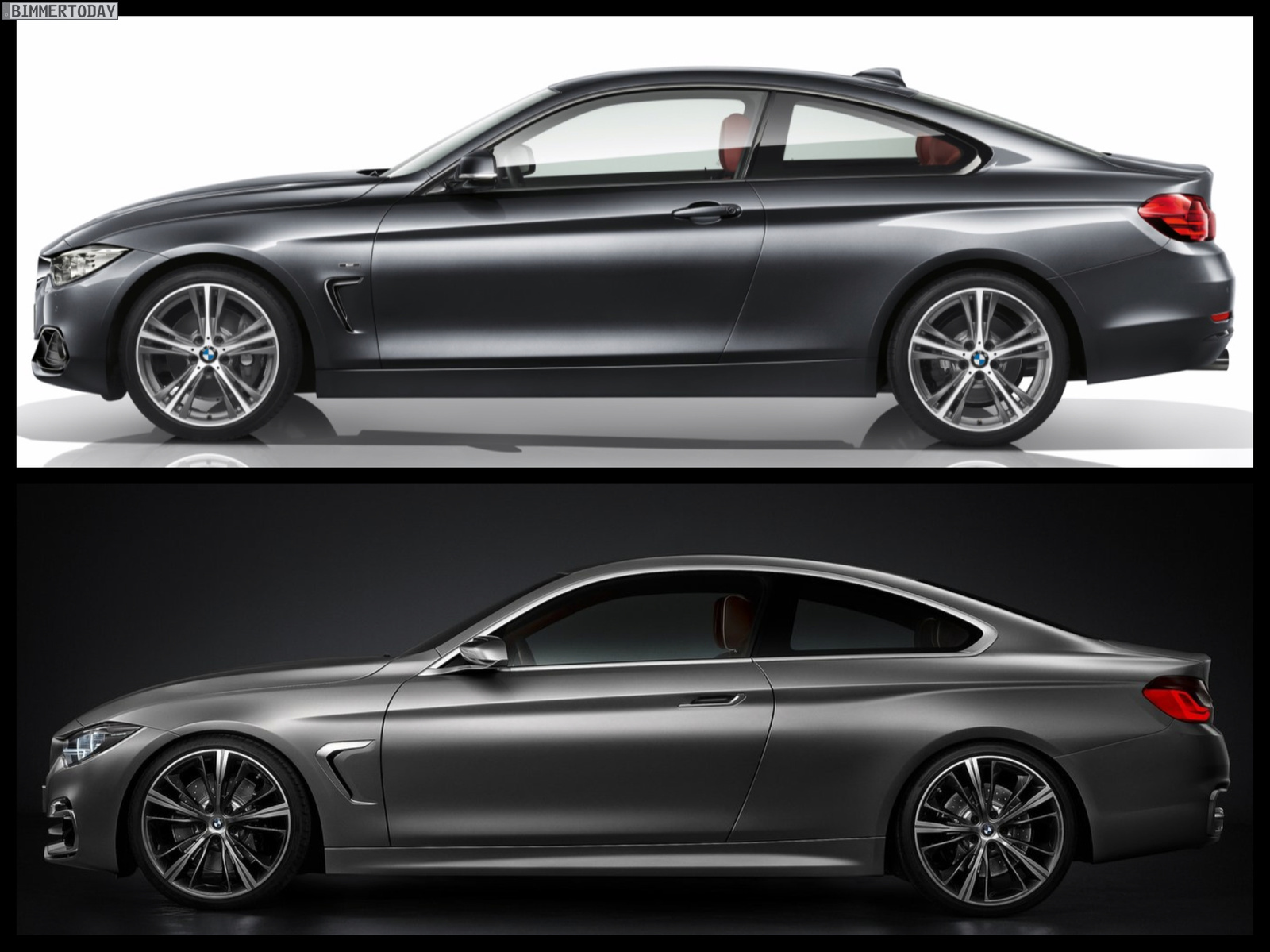 bmw concept 4 series vs bmw 4 series coupe production photo comparison. Black Bedroom Furniture Sets. Home Design Ideas