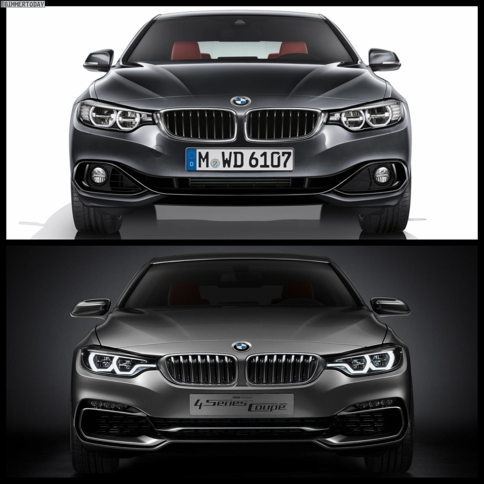 BMW Concept 4 Series Vs. BMW 4 Series Coupe Production