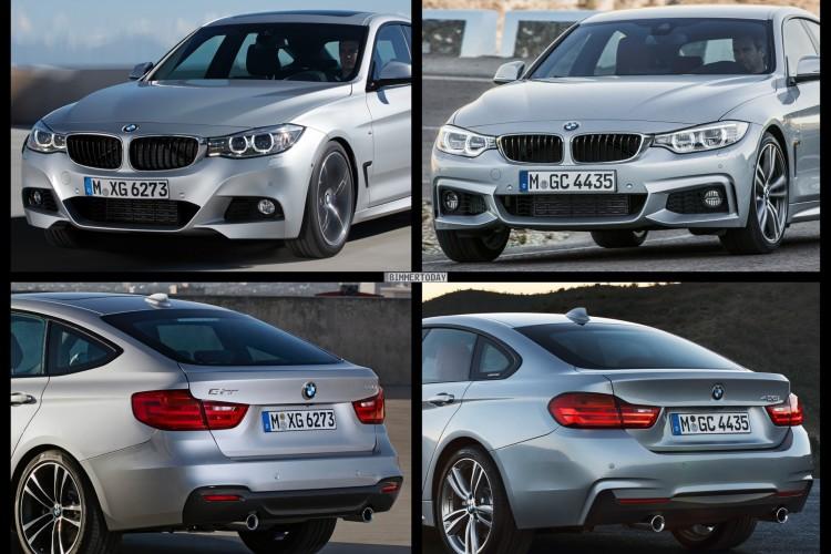 Bild Vergleich BMW 4er GC Gran Coupe F36 3er GT F34 06 750x500