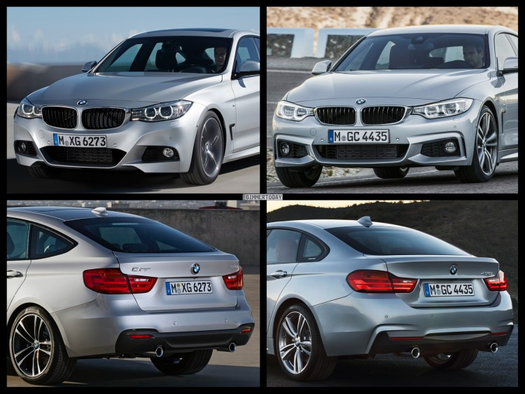 Bild Vergleich BMW 4er GC Gran Coupe F36 3er GT F34 06 750x562
