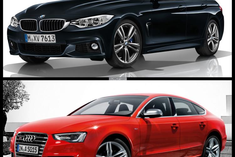 Bild Vergleich BMW 4er Gran Coupe F36 Audi S5 Sportback 01 750x500