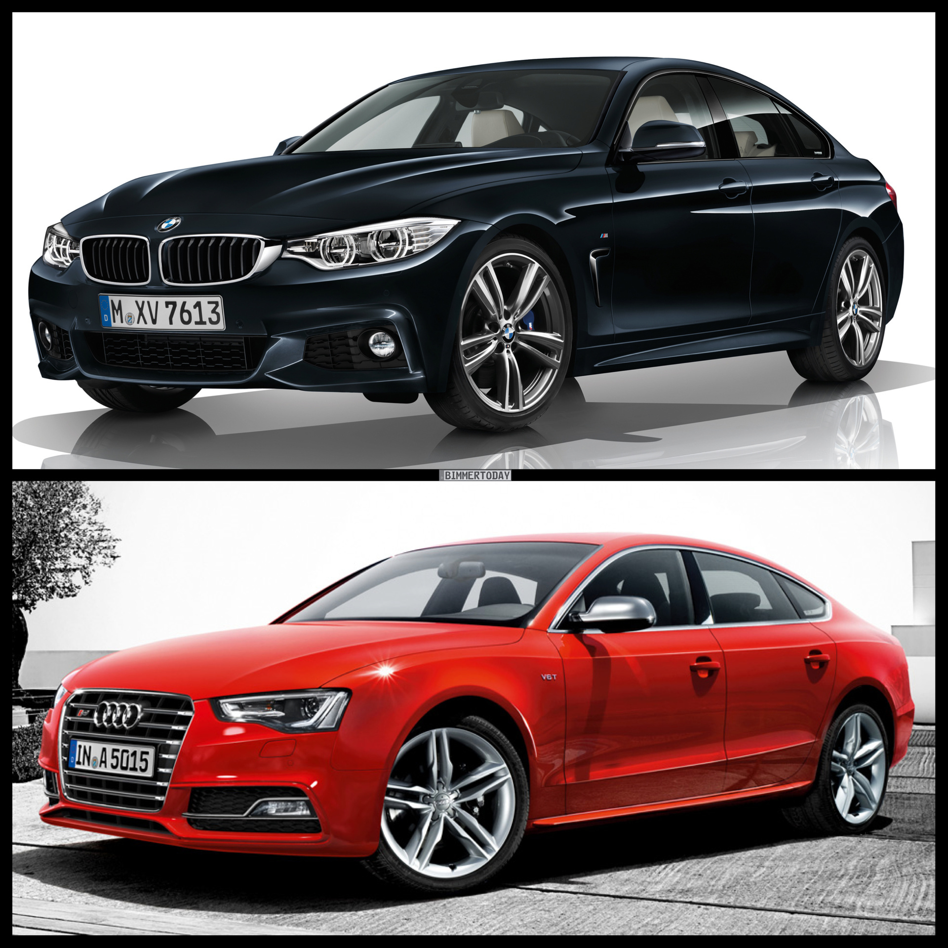 Photo Comparison: BMW 4 Series Gran Coupe vs Audi S5 Sportback